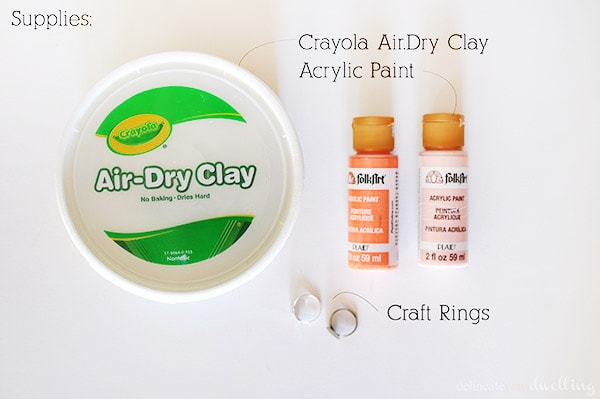 Geometric Clay Rings supplies