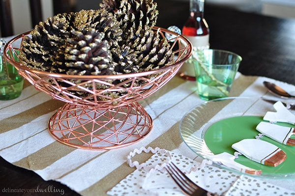 Thanksgiving Tablescape setting, Delineate Your Dwelling