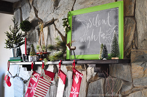 Christmas Fireplace Chalk, Delineateyourdwelling.com