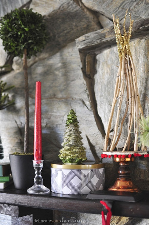 Christmas Fireplace Trees, Delineateyourdwelling.com