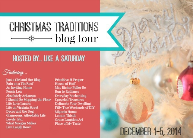 Christmas Traditions Blog Tour, Delineateyourdwelling.com