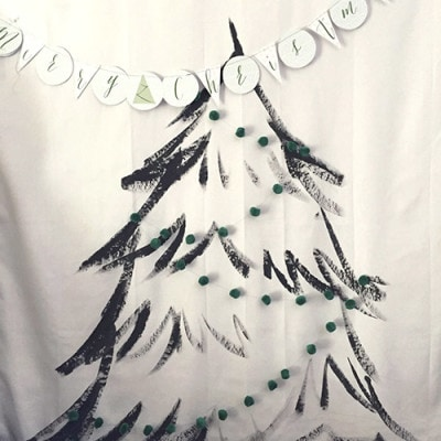 Christmas Tree Wall Hanging garland, Delineateyourdwelling.com