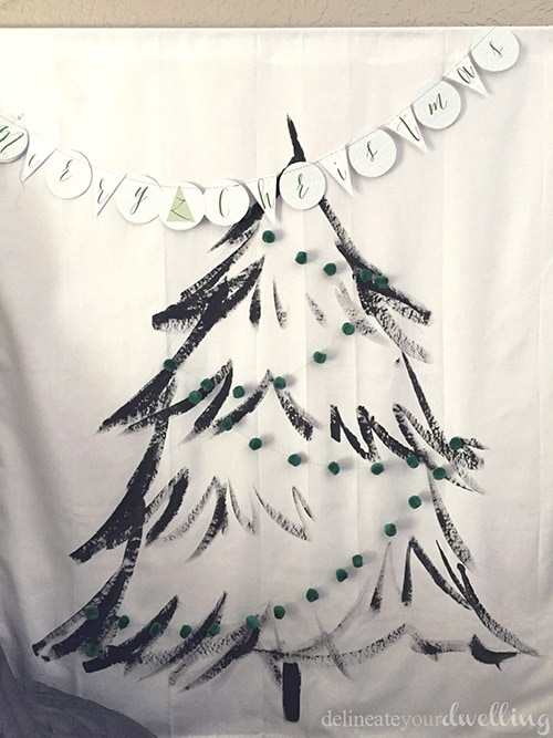 Christmas Tree Wall Hanging garland, Delineateyourdwelling.com