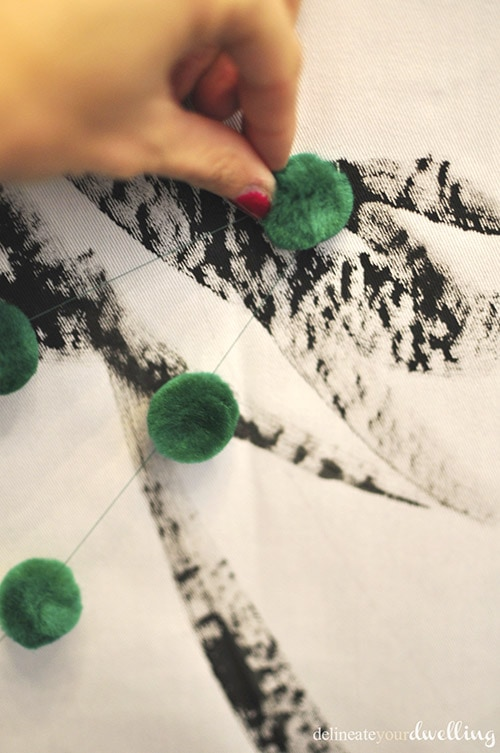 Christmas Tree Wall Hanging pom, Delineateyourdwelling.com