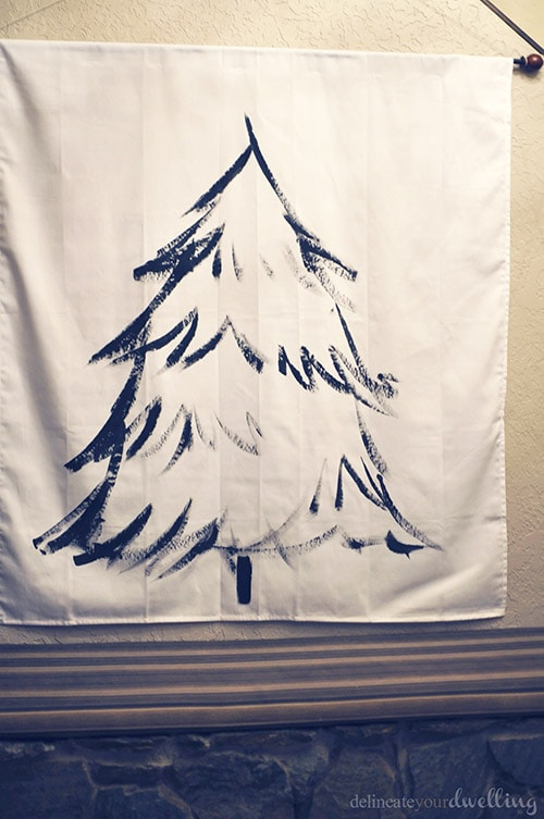 Christmas Tree Wall Hanging wall, Delineateyourdwelling.com