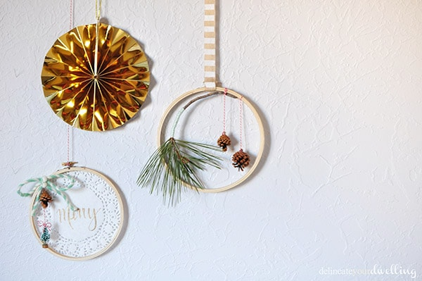 Evergreen Hanging Hoop decor