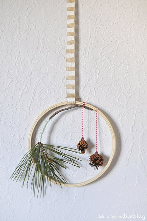 Holiday Evergreen Hoop, Delineateyourdwelling.com