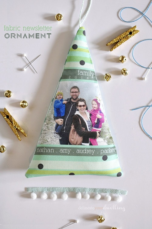 Fabric Newsletter Ornament, Delineateyourdwelling.com