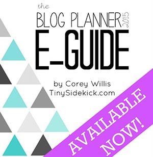 Printable Blog Planner and E-guide full of tips for bloggers!