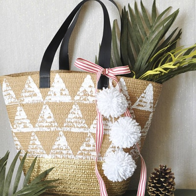 Triangle Tote, Last Minute Handmade gift - Delineateyourdwelling.com
