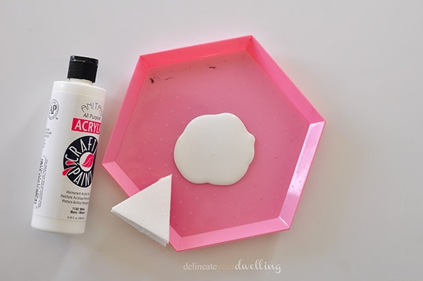 Triangle Tote paint, Last Minute Handmade Gift - Delineateyourdwelling.com
