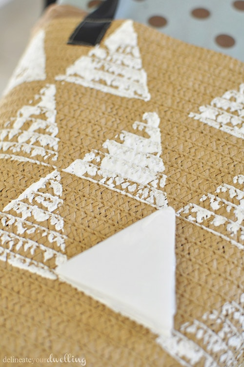 Triangle Tote stamp