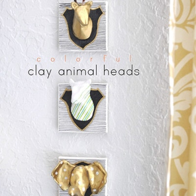Fun to make, Air Dry Clay Animal Head, Delineateyourdwelling.com