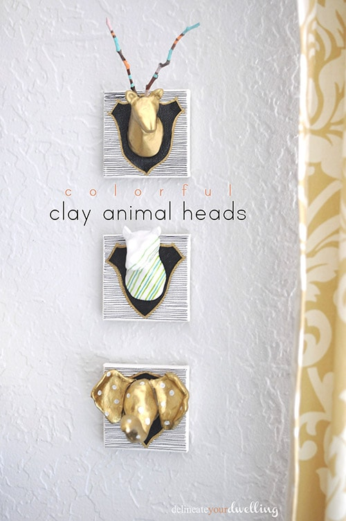 Air Dry Clay Animal Head, Delineateyourdwelling.com