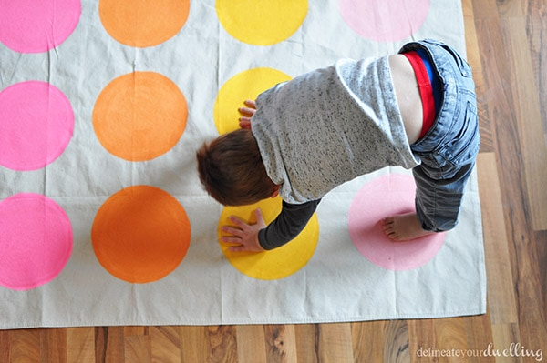 DIY Twister Game play, Delineateyourdwelling.com