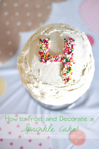 How to Frost and Decorate a Sprinkle Cake, Delineateyourdwelling.com