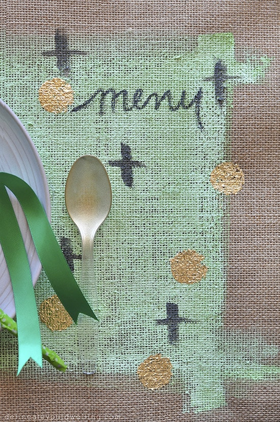 Gold Foil Placemat close up, delineateyourdwelling.com