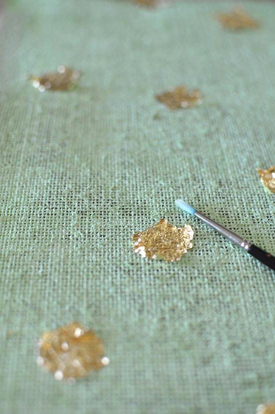 Gold Foil Placemat steps