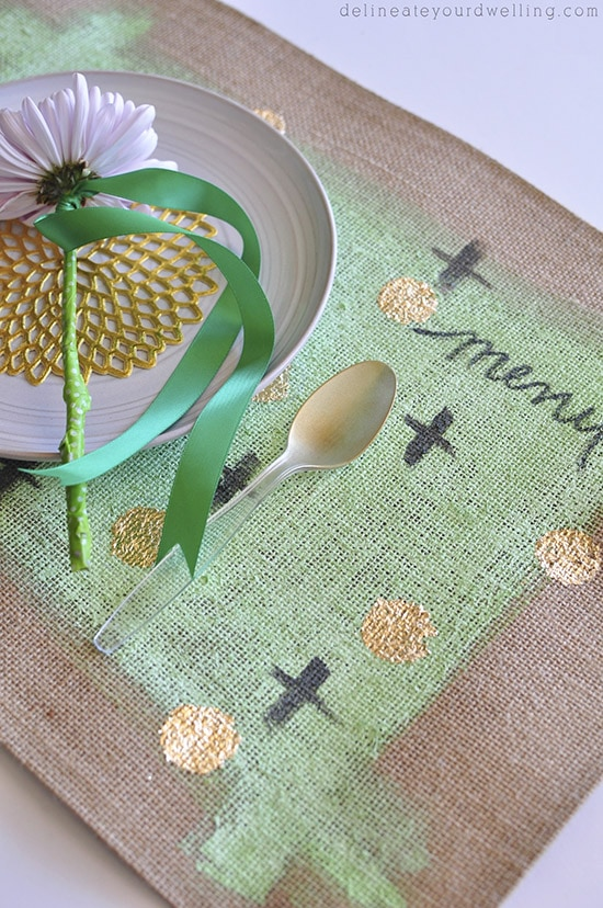 Gold Foil Placemats flower, delineateyourdwelling.com