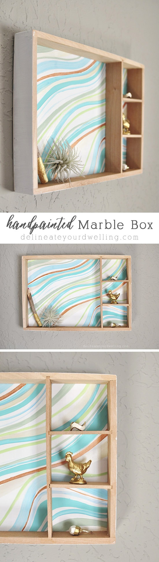 Hand Marble painted Box, Delineateyourdwelling.com