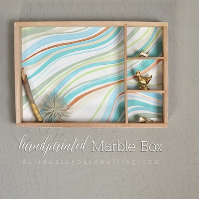 Handpainted Marble Box, Delineateyourdwelling.com