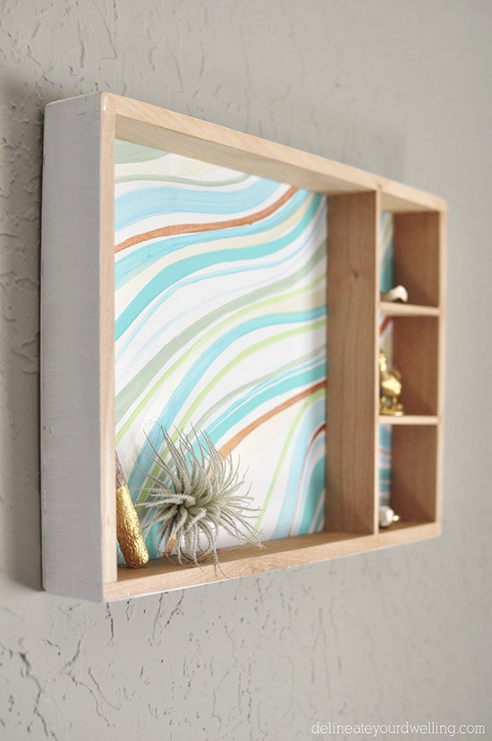 Marble painted Box, Delineateyourdwelling.com