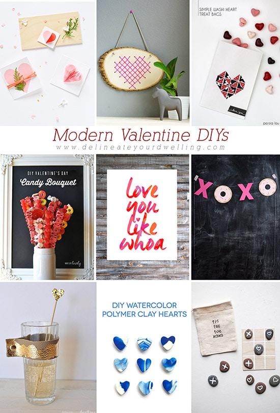 Modern Valentine DIYs, Delineateyourdwelling.com
