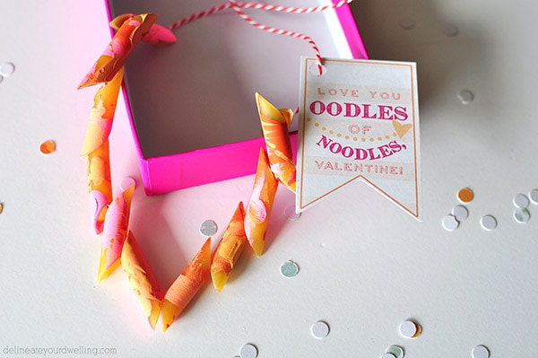 Noodles Vday Printable pink necklace, Delineateyourdwelling.com