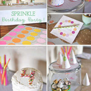 Sprinkle themed Birthday Party, Delineateyourdwelling.com