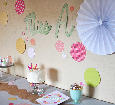Sprinkle themed Party decor, Delineateyourdwelling.com