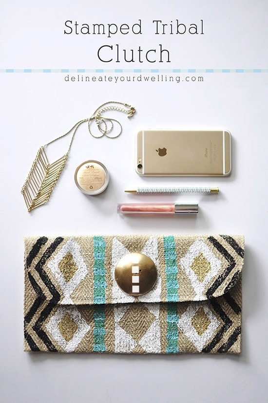 Stamped Tribal Clutch, Delineateyourdwelling.com