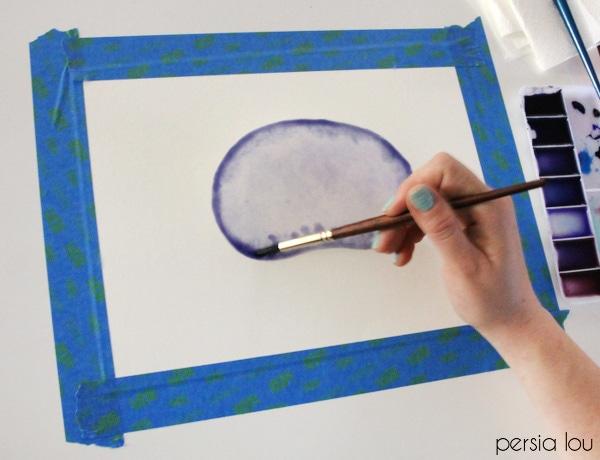 watercolor agate slice step 3