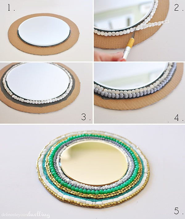 Beaded Mirror steps