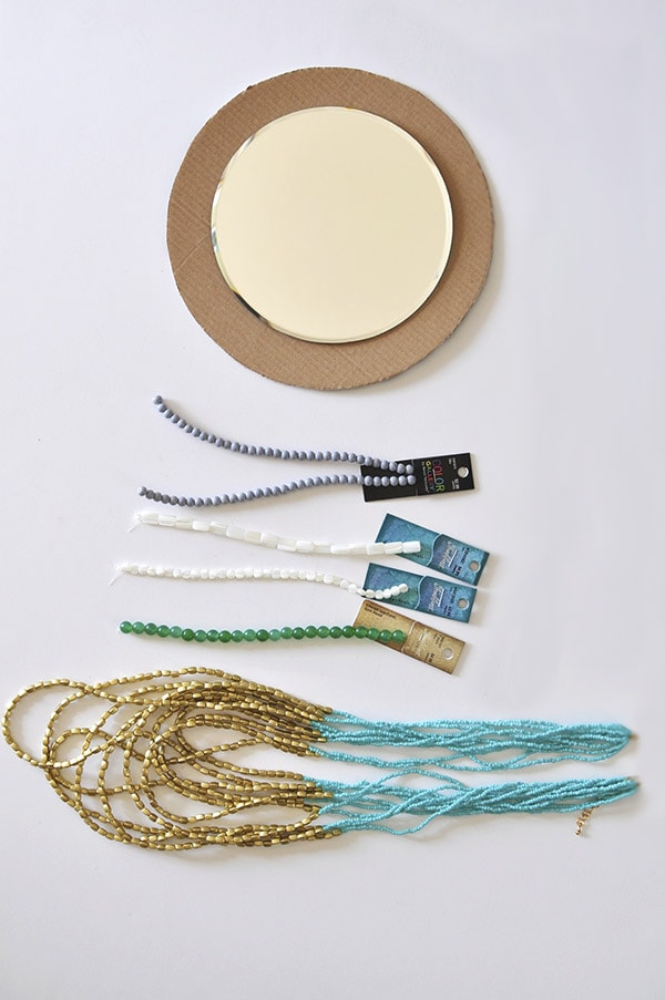 Beaded Mirror supplies