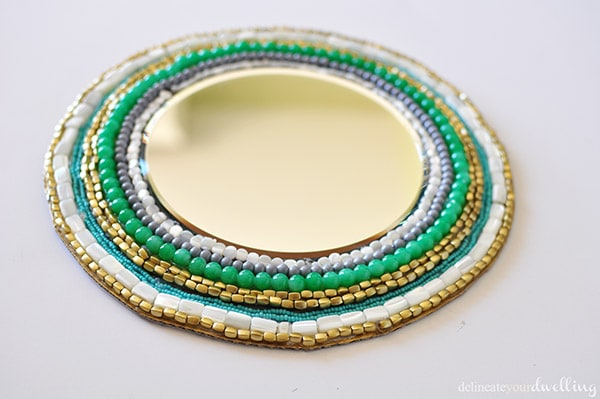 Beaded Mirror, Delineateyourdwelling.com