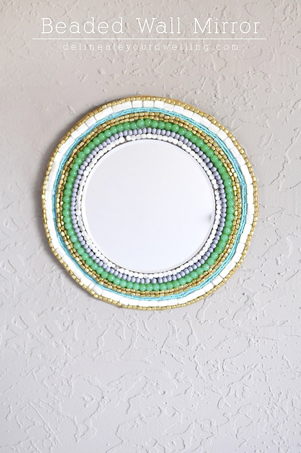 West Elm inspired Beaded Wall Mirror, Delineate Your Dwelling
