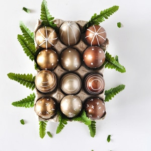 DIY Metallic Eggs