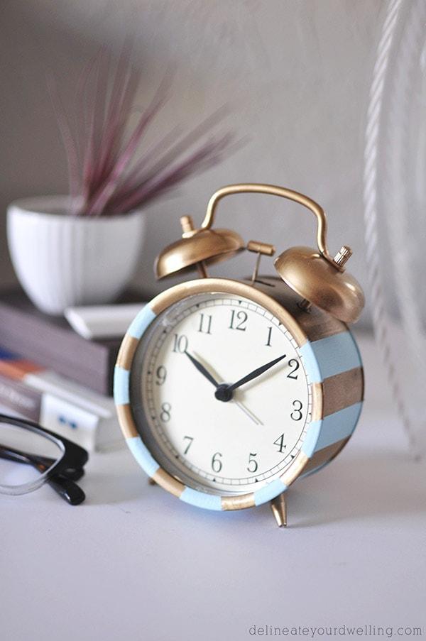 Ikea Stripe Clock, delineateyourdwelling.com