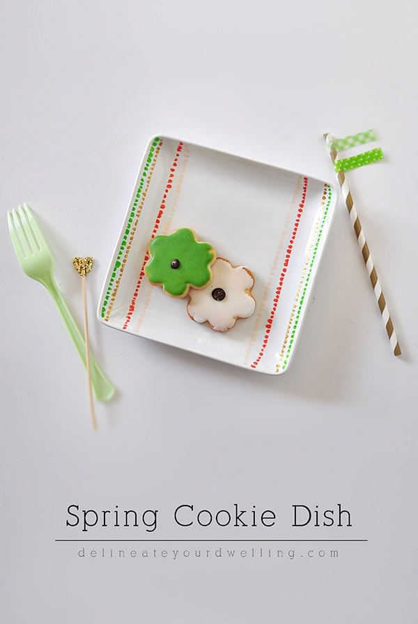 Spring Cookie Dish