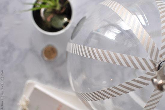 Washi Update Glass Lamp