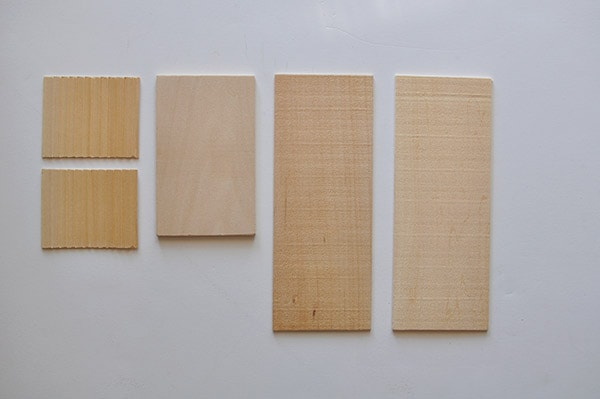 Balsa Wood House supplies