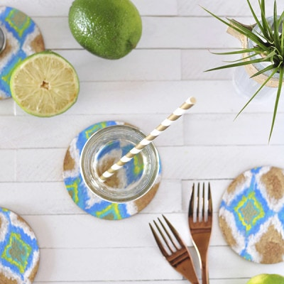 DIY Ikat Coasters, delineateyourdwelling.com
