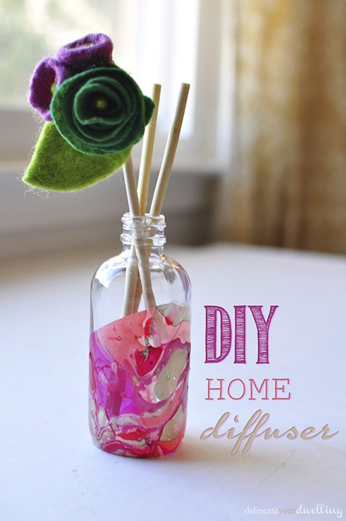 DIY Marbled Room Diffuser, Delineateyourdwelling.com