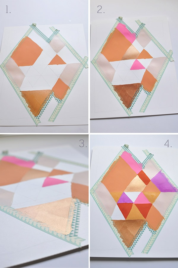 Easy Abstract Diamond steps