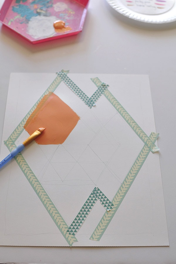 Easy Abstract Diamond tape