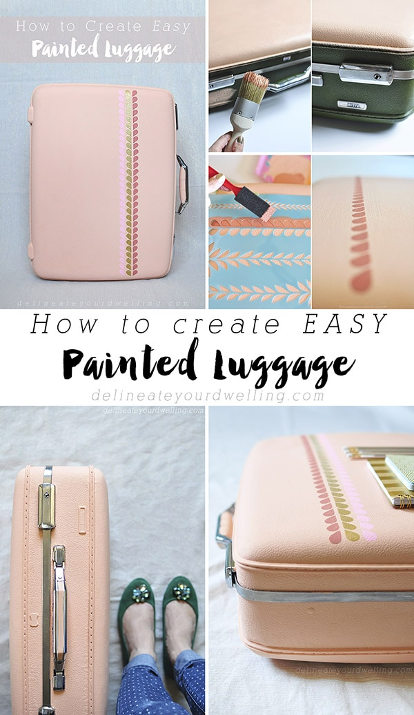 Easy Painted Luggage pin, Delineateyourdwelling.com