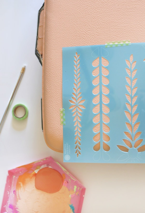 Easy Painted Luggage stencil