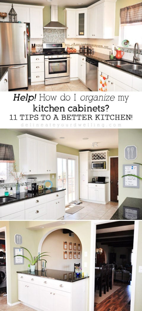 11 Tips For Organizing Your Kitchen Cabinets, Delineate Your Dwelling