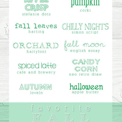 fall fonts, Delineateyourdwelling.com