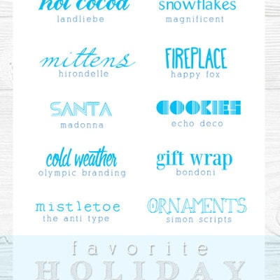 holiday fonts, Delineateyourdwelling.com